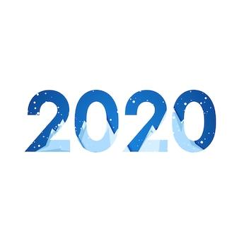 2020 año nuevo illustrati