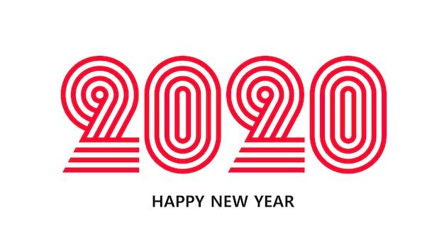 2020 año nuevo plantilla de banner de estilo insta diseño minimalista de postal de navidad