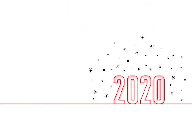 2020 feliz año nuevo fondo de estilo minimalista