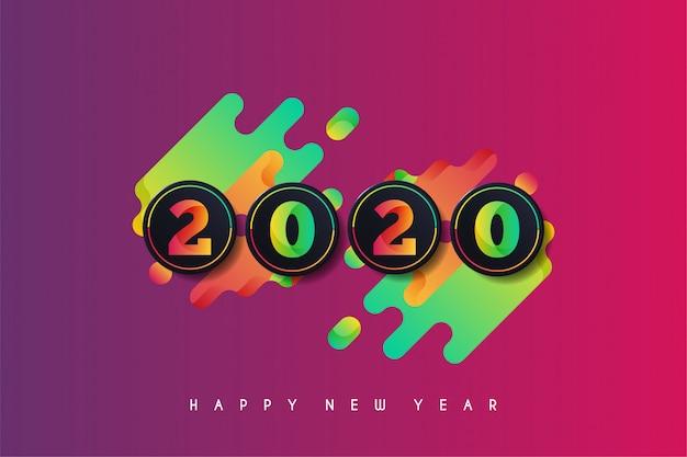 2020 feliz año nuevo fondo