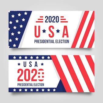 2020 tema de banner de elección presidencial de ee.
