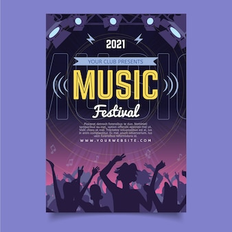 2021 cartel ilustrado del festival de música