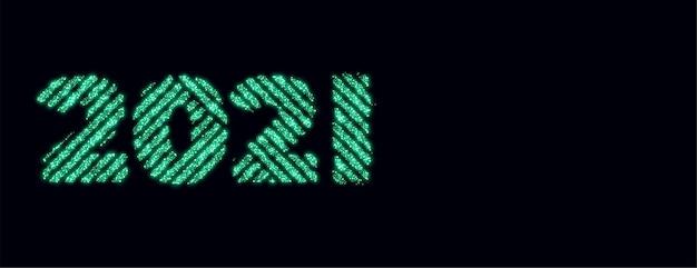 2021 destellos estilo creativo feliz año nuevo diseño de banner