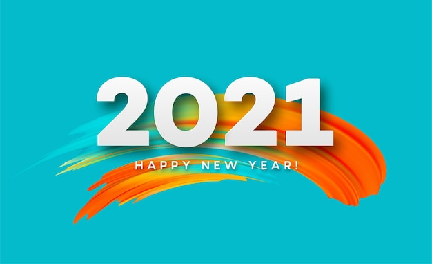 2021 feliz año nuevo fondo de flujo de color.