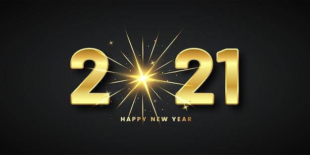 2021 feliz año nuevo saludo brillante