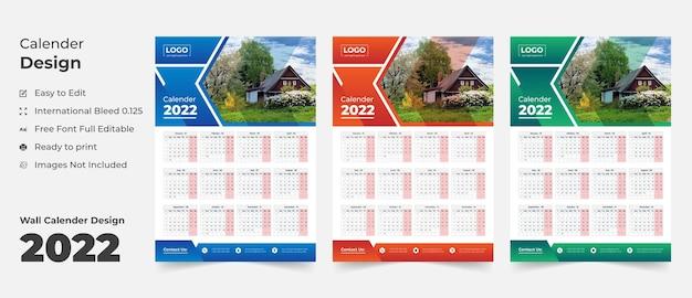 2022 calendario de pared plantilla calendario calendario planificador de negocios anual calendario calendario de eventos