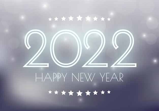 2022 feliz año nuevo. números de estilo minimalista. números lineales vectoriales. diseño de tarjeta de felicitación. ilustración vectorial. vector libre