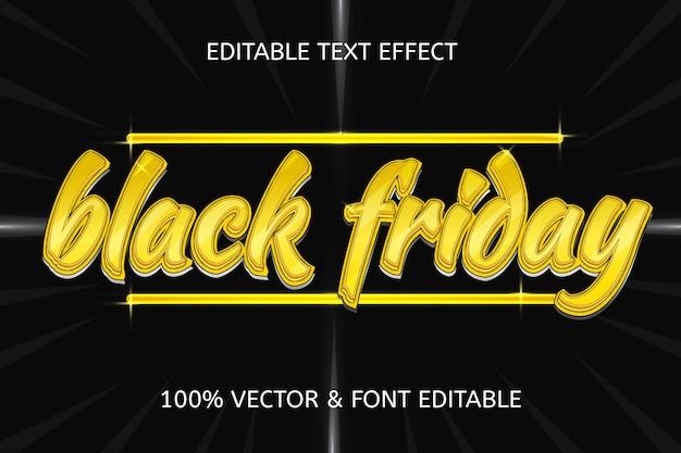 22. efecto de texto editable de lujo de estilo black friday