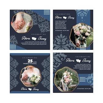 25 años de aniversario de bodas colección de publicaciones de instagram