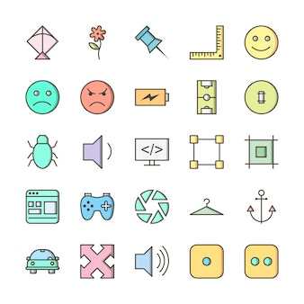 25 conjunto de iconos de universal para uso personal y comercial ...