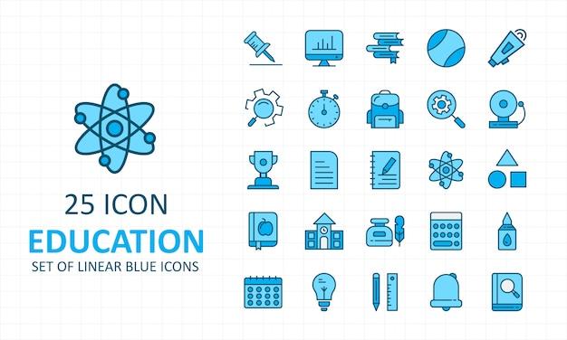 25 iconos de educación simple