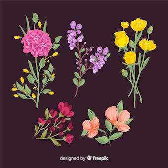 2d ramo de flores realista
