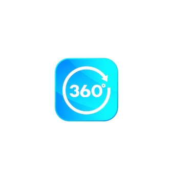 360 icono con flecha
