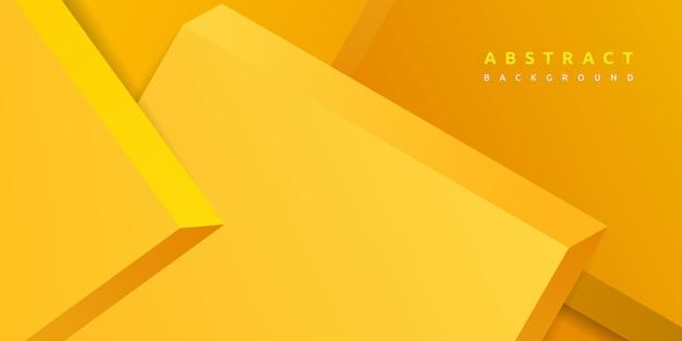 3d abstracto que rinde el fondo amarillo de la forma