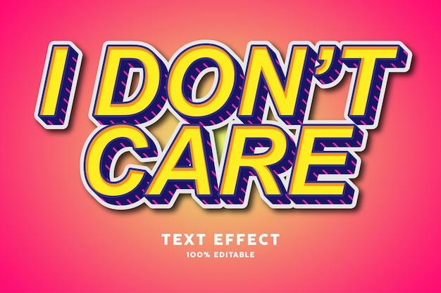 3d amarillo con efecto de texto de líneas rosadas