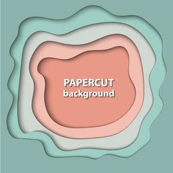 3d arte abstracto estilo de papel, diseño de diseño