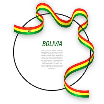 3d bolivia con bandera nacional.