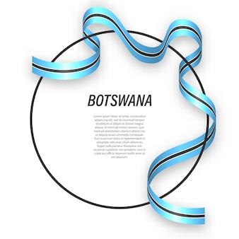 3d botswana con bandera nacional.