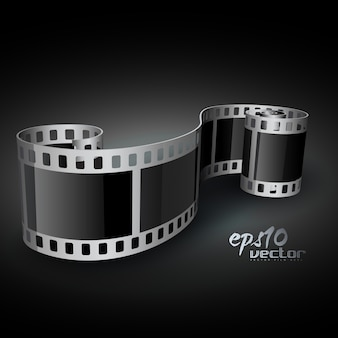 3d carrete de película realista