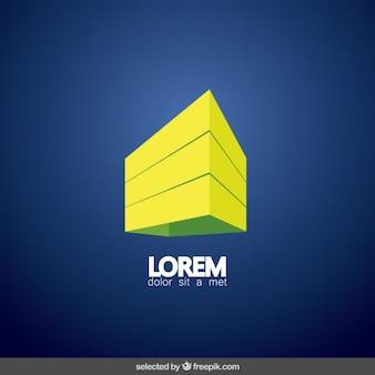 3d edificio logotipo inmobiliaria