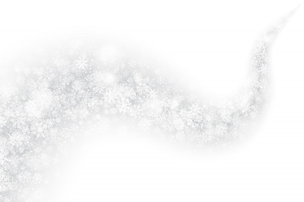 3d efecto remolino de nieve sobre fondo blanco.