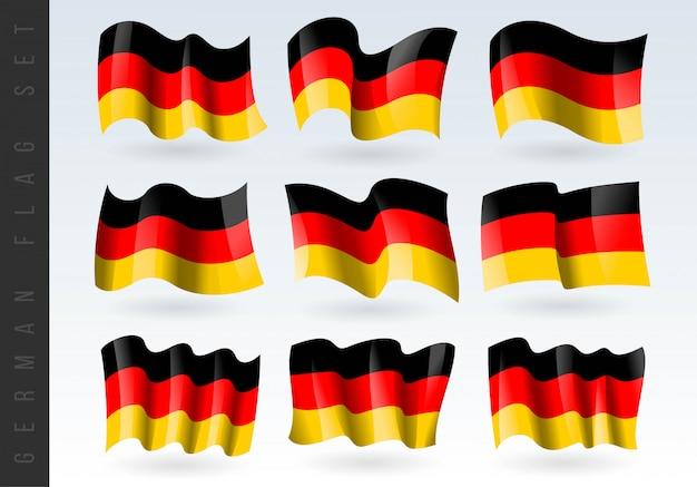 3d ondeando la bandera de alemania.
