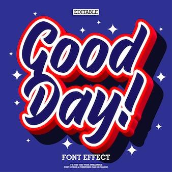3d pop efecto de texto buen día para elemento de diseño de cartel