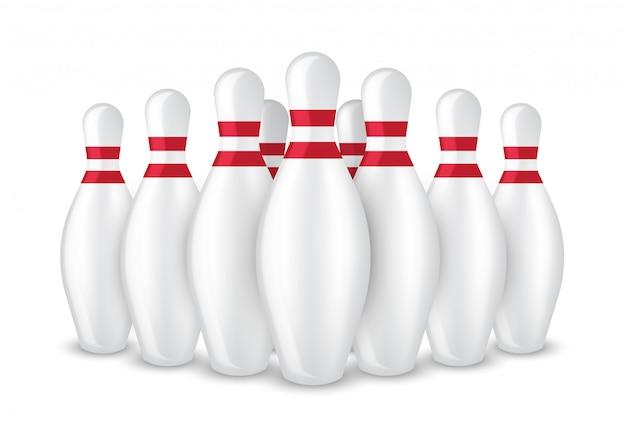 3d realista bowling pin deporte aislado