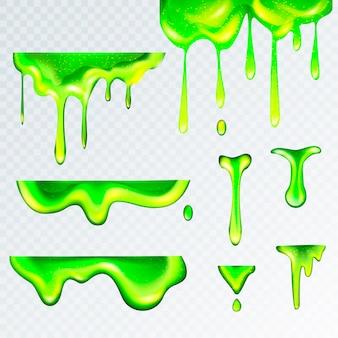 3d realista verde limo goo