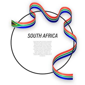 3d sudáfrica con bandera nacional.