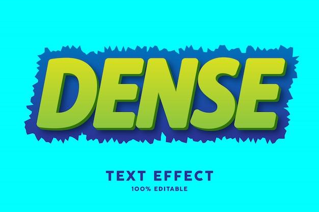 3d verde con efecto de texto desigual azul