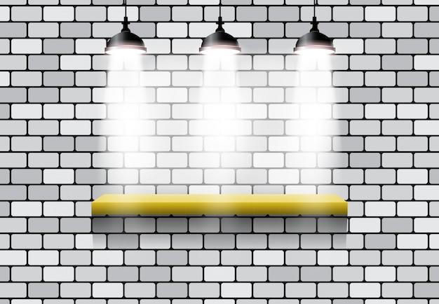 3er efecto de luz soporte ladrillo