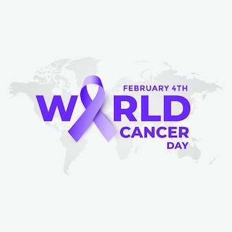 4 de febrero fondo del día mundial del cáncer