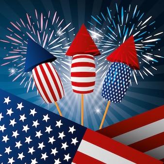 4 de julio celebración del día de la independencia de estados unidos.