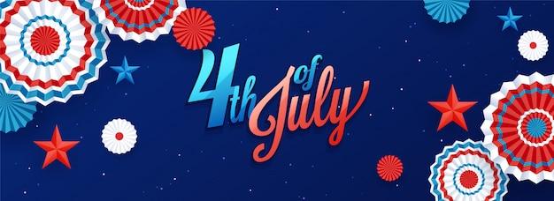 4 de julio, celebración del día de la independencia.