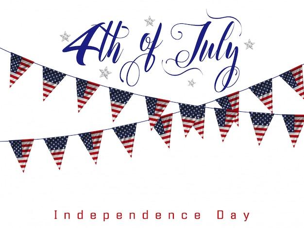4 de julio, día de la independencia americana.