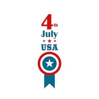4 de julio día de la independencia. banner vertical.