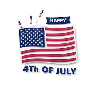 4 de julio, día de la independencia, estados unidos de américa.