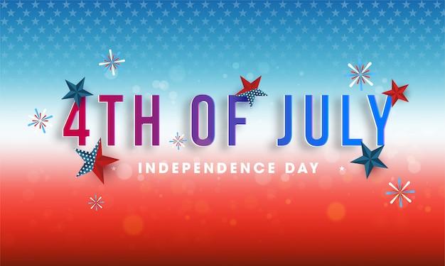 4 de julio, diseño del día de la independencia decorado.