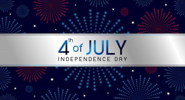 4 de julio diseño del día de la independencia