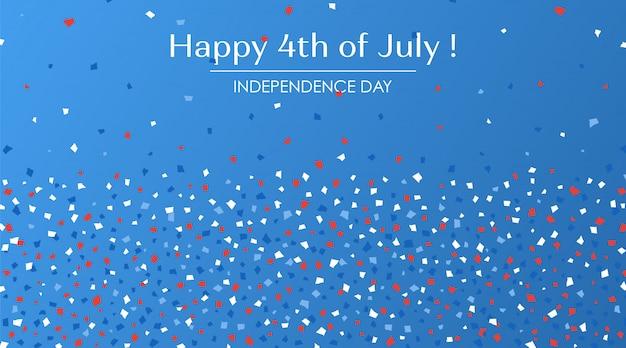 4 de julio festiva tarjeta de felicitación.
