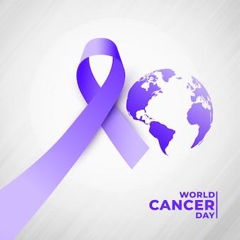 4 de julio fondo del día mundial del cáncer