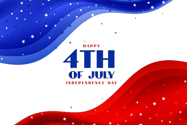 4 de julio fondo de vacaciones americanas estilo ola