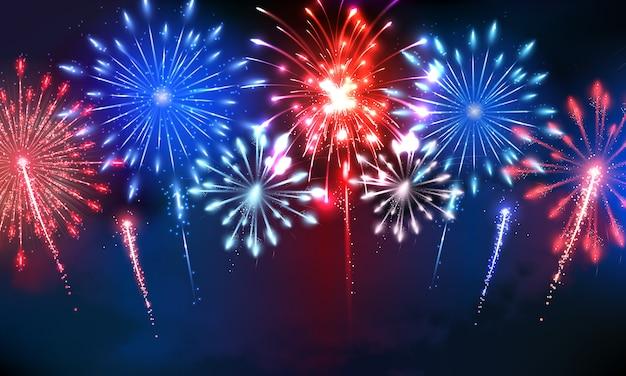 4 de julio fuegos artificiales