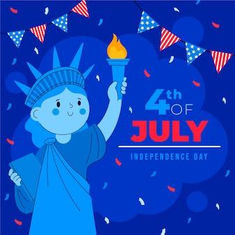 4 de julio - ilustración del día de la independencia