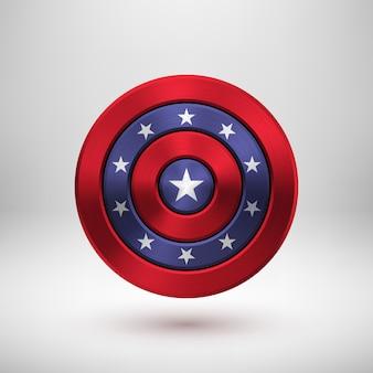 4 de julio insignia del día de la independencia con textura metálica.