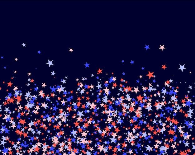 4 de julio patrón hecho de estrellas