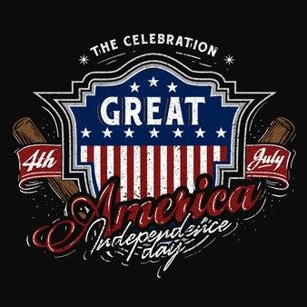 4 de julio tema de béisbol de américa america