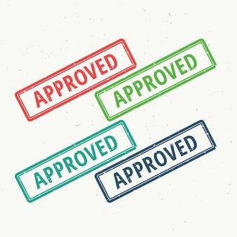 4 sellos de aprobado