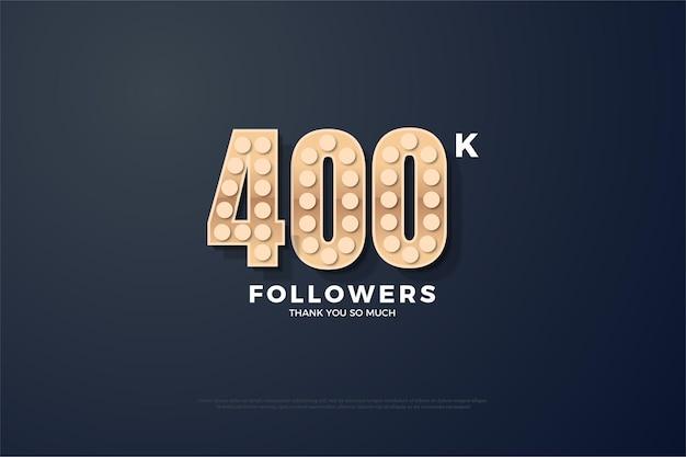 400.000 seguidores mediante el uso de números 3d en relieve